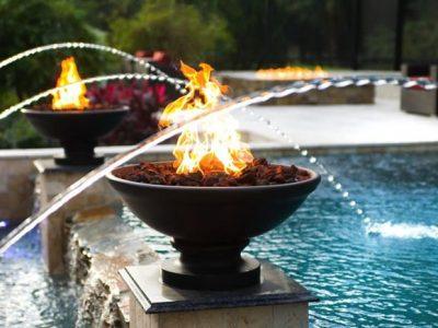 Fire bowl & deck jets pic