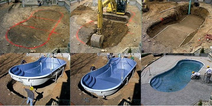 Timelapse Fiberglass Pool Construction